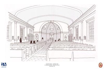 St. Katharine Drexel - Preliminary Interior Church Sketch