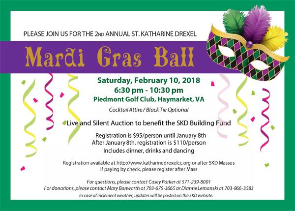 St. Katharine Drexel Mardi Gras Ball