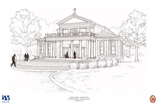 St. Katharine Drexel - Preliminary Exterior Church Sketch