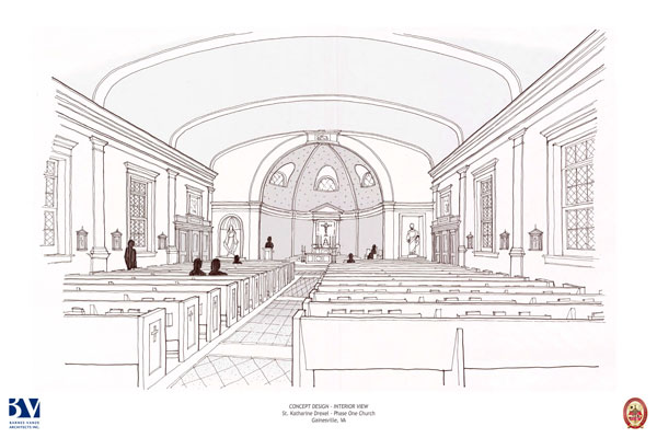 St. Katharine Drexel - Preliminary Interior Church Sketch