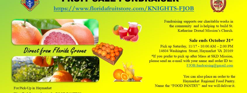 Knights of Columbus Fruit Sale
